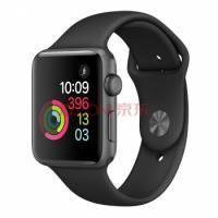 Apple Watch Sport Series 2智能手表( 42毫米深空灰色铝金属表壳搭配黑色运动型表带 MP062CH/A)